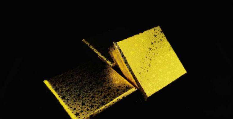 กล่องจั่วปังหุ้มกระดาษฟอล์ยดาวทอง